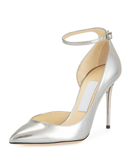 Jimmy Choo Lucy Half-d'Orsay Metallic Pump, Steel
