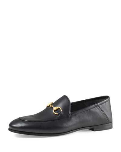 Brixton Leather Horsebit Loafer, Black