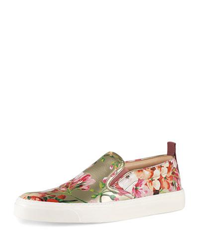 Board Floral-Print Skate Sneaker, Dry Rose