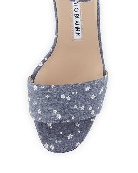 Lauratom Floral Denim Sandal