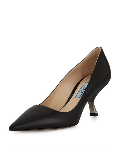 Patent Inverted-Heel 65mm Pump, Black