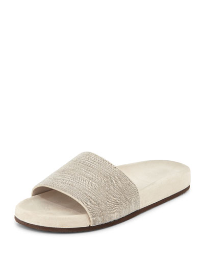 Monili One-Band Sandal Slide, Desert