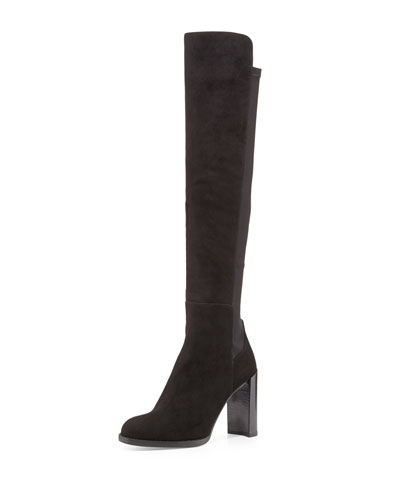 Hijack Suede Stretch-Back Boot, Black