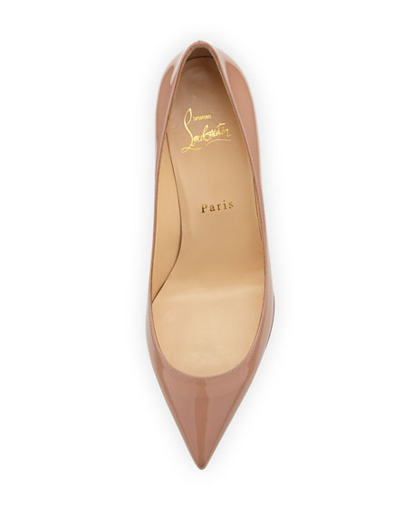 Pigalle Follies 55mm Patent Red Sole Pump, Nude