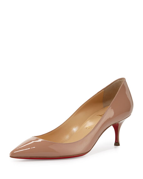 best service 90ced 14392 Pigalle Follies 55mm Patent Red Sole Pump Nude