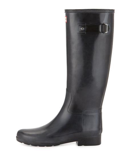 Original Tall Refined Gloss Rain Boot, Black