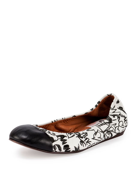 buy cheap new Lanvin Printed Round-Toe Flats wiki buy cheap with mastercard cheap sale low price irNpr