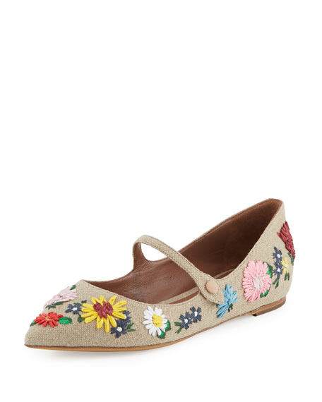 Tabitha Simmons Floral Espadrille Flats buy cheap new styles cheap sale good selling Cwg2Z