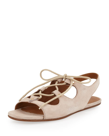 Chloé Lace-Up Suede Sandals clearance 2015 deals online clearance 2015 new p5tga5FCV0