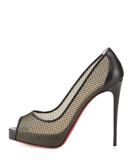 Very Rete 120mm Red Sole Pump, Black