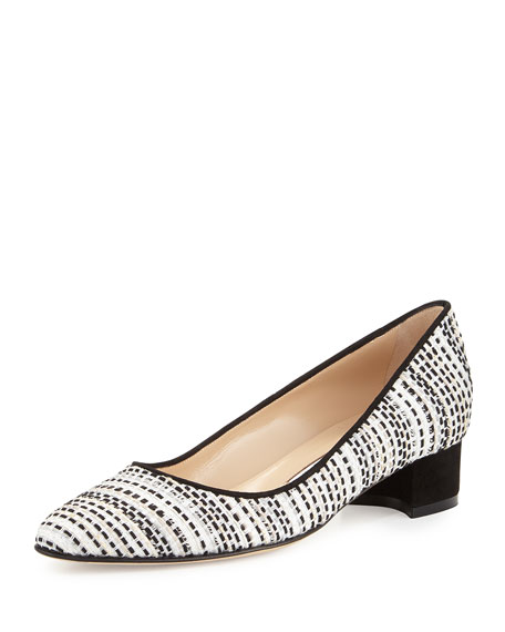 Listony Tweed Mid-Heel Pump, Black