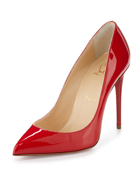 Christian Louboutin Pigalle Follies Patent 100mm Red Sole