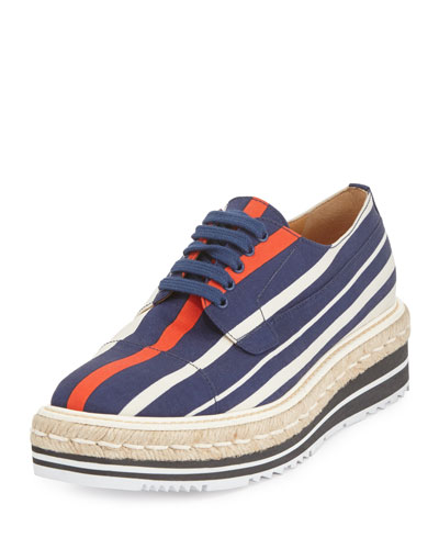 Striped Platform Creeper, Navy/Red (Bluette+Rosso)