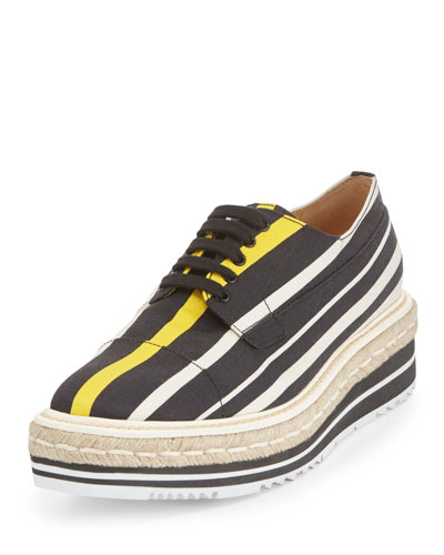 Striped Platform Creeper, Black/Yellow (Nero+Giallo)
