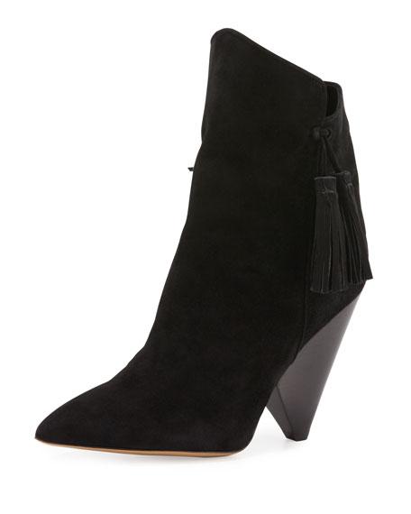 387b5471521 Isabel Marant Leyton Suede Tassel Boot, Black