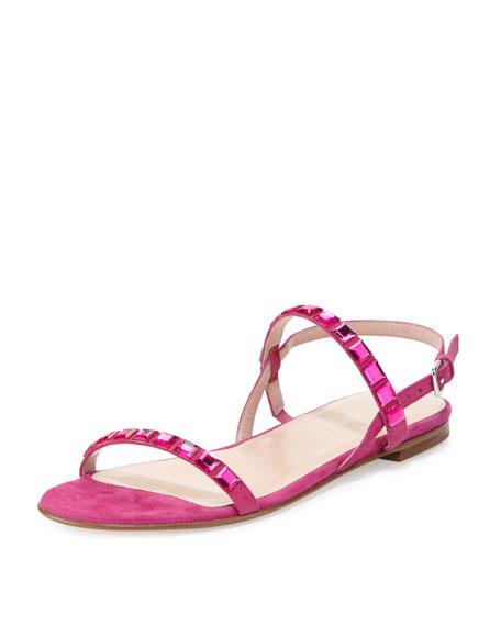 b96209468 Stuart Weitzman Trailmix Studded Suede Flat Sandal