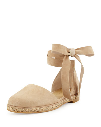 Cousin Flat Suede d'Orsay Espadrille, Beach