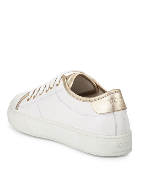 White and golden sneakers Tod's PUzadibXd