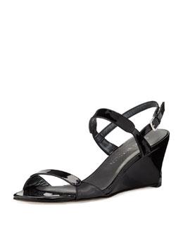 Nolo Patent Demi-Wedge Sandal, Black