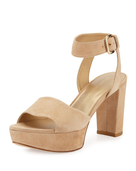 clearance reliable Stuart Weitzman Suede Slingback Sandals the cheapest cheap discount gwgHt2