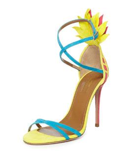 Pina Colada Strappy Sandal, Multi