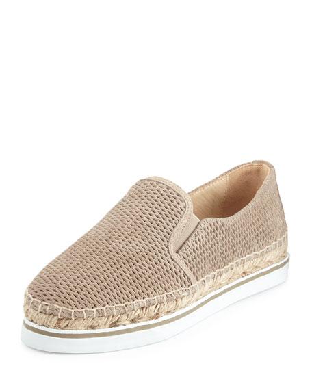 f8e7408d061b5 Jimmy Choo Dawn Suede Espadrille Sneaker, Light Gold