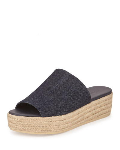 Solana One-Band Denim Espadrille Mule