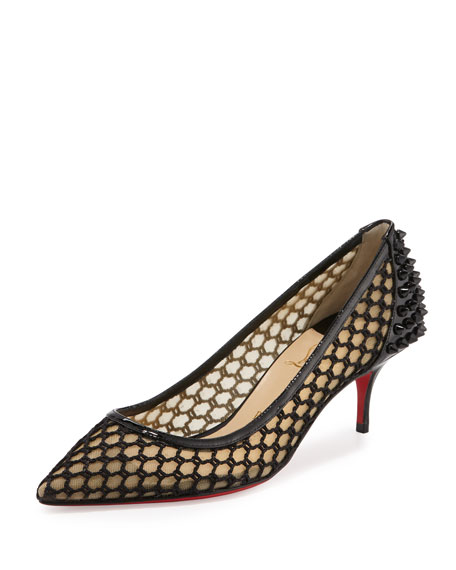 louis vuitton red bottom shoes - Christian Louboutin Alta Poppins T-Strap Red Sole Pump, Black