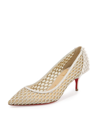 CHRISTIAN LOUBOUTIN Decollette Tortoiseshell Red Sole Pump, Testa ...