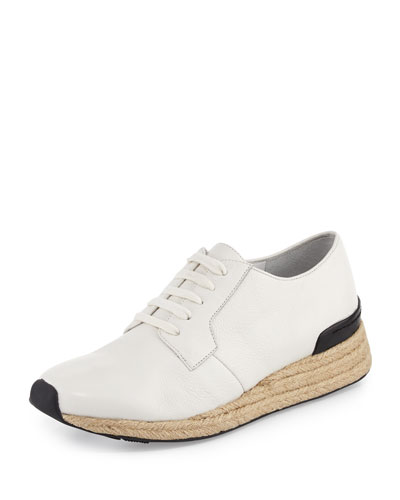 Rayner-3 Leather Espadrille Sneaker, Alabaster