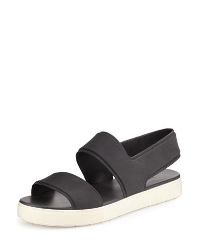 Eres Rubber Slingback Sport Sandal, Black