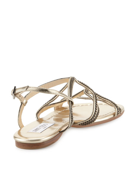 jimmy choo sandals flat