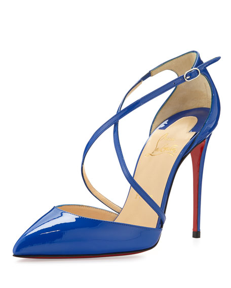 Christian Louboutin Cross Blake 100mm Patent Red Sole