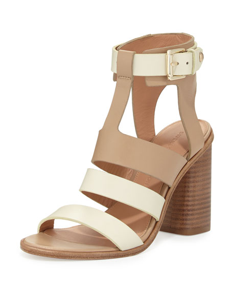 e3c6c6c6053 Sigerson Morrison Coria Two-Tone Leather Block-Heel Sandal