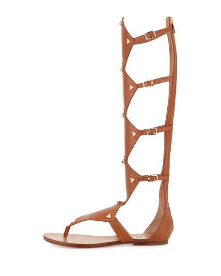 f5916c0db1c0 Sigerson Morrison Basper Studded Knee-High Gladiator Sandal