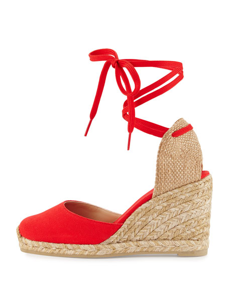 best deals on more photos hot sales Carina Canvas Espadrille Wedge Rojo Red