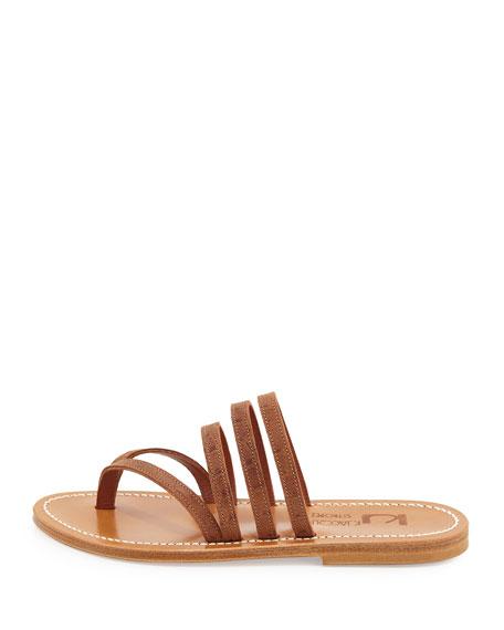 Sycomore Strappy Flat Thong Sandal, Catalina