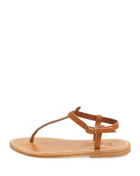 Picon Flat Thong Sandal, Natural