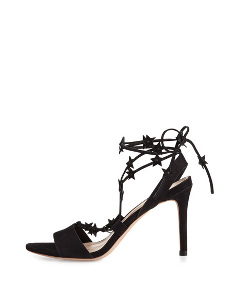Arielle Strappy Star Sandal, Black