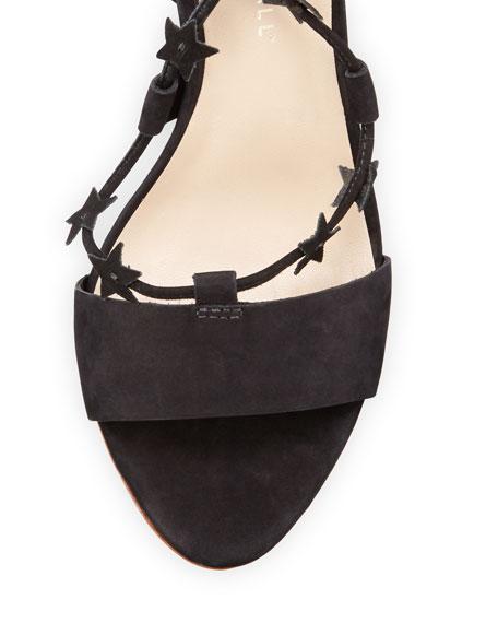 Arielle Strappy Star Sandal, Black