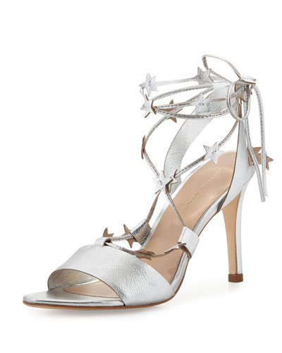 Arielle Strappy Star Sandal, Silver