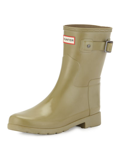 Original Refined Gloss Short Rain Boot, Sage