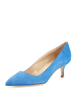 BB Suede 50mm Pump, Cornflower