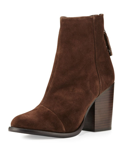 Ashby Suede Ankle Boot, Espresso