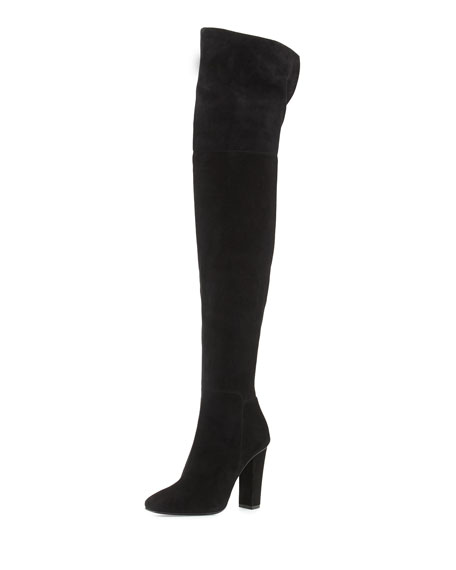 803a11b80539 Giuseppe Zanotti Square-Toe Suede Over-The-Knee Boot