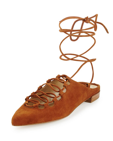lace-up sandals - Brown Stuart Weitzman