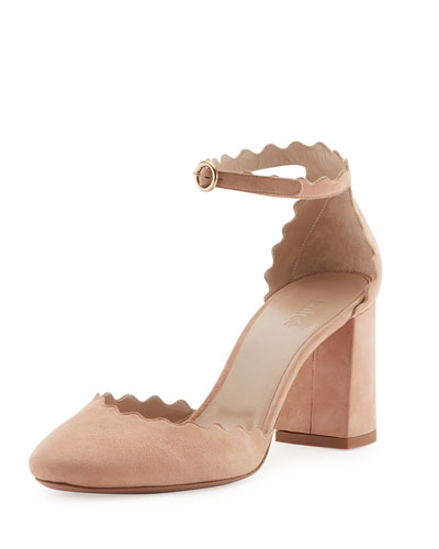 Lauren Scalloped d'Orsay Pump