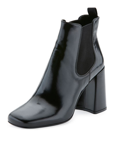 Brushed Leather 85mm Chelsea Boot, Black (Nero)