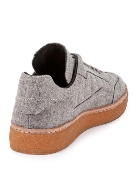 Eden Felt Low-Top Sneaker, Heather Gray