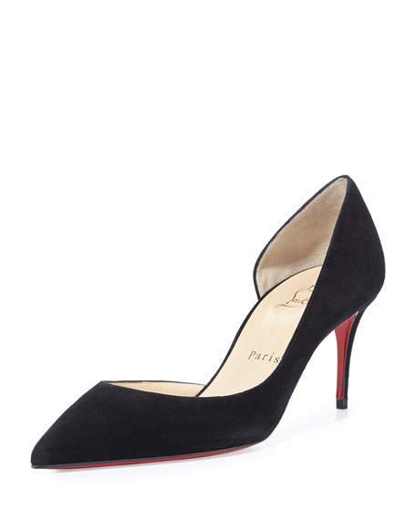 Christian Louboutin Iriza Half-d'Orsay 70mm Red Sole Pump,